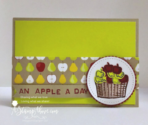 Learn how to make a cute little card with the SPRINKLES OF LIFE stamp set and matching punch. You'll find all the details and dimensions on www.AStampAbove.com