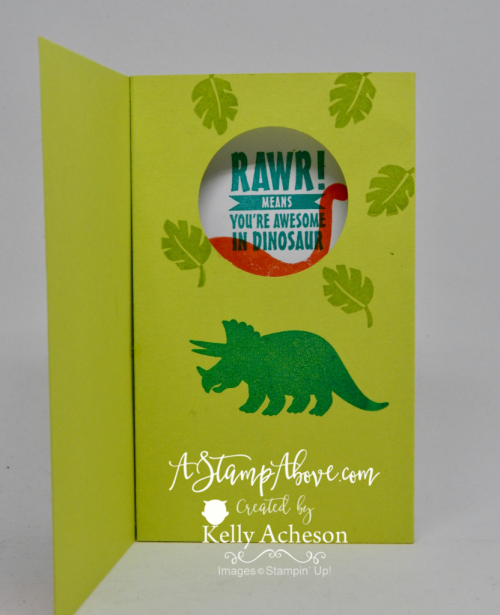 Learn how to make a POP UP DIORAMA card in a jiffy! www.AStampAbove.com