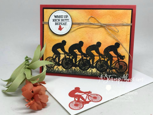 VIDEO TUTORIAL - Learn a fun technique using the Stamparatus to REPEAT stamp with perfection. You'll find a video tutorial showing how to make this gorgeous card and use your Stamparatus for more than just positioning when you click on the photo. www.AStampAbove.com
