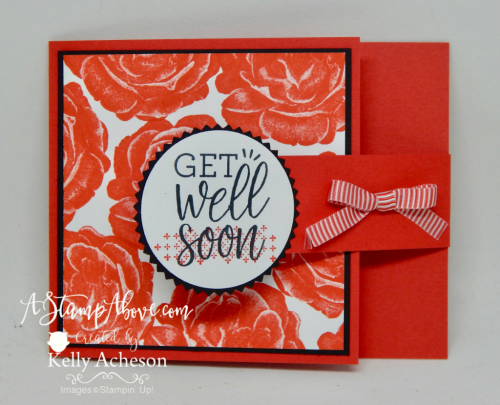 Learn how to make this super easy fun fold featuring the NEW HEALING HUGS stamp set from Stampin' Up! www.AStampAbove.com