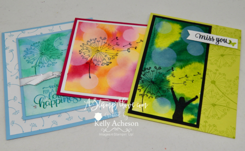VIDEO TUTORIAL - learn how to make this gorgeous BOKEH background and order any Stampin' Up! products in my online store! www.AStampAbove.com