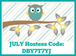 JULY Hostess Code