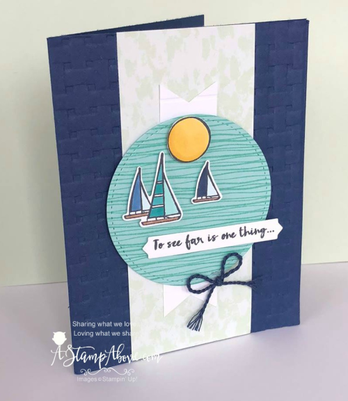 DOWNLOAD a complete project sheet for this card on my blog. www.AStampAbove.com