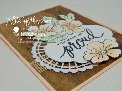 VIDEO TUTORIAL - Who doesn't love wood and flowers together? Learn how to make this easy and beautiful card using the Stampin' Blends Alcohol Markers. All details on my blog. www.AStampAbove.com