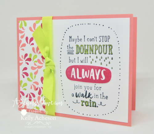 VIDEO TUTORIAL - Learn how easy it is to make cards with BIG greetings! You'll find all the details on my blog: www.AStampAbove.com