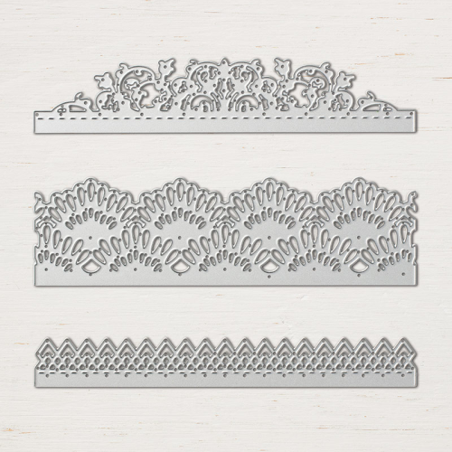 The Delicate Lace Edgelits are perfect for your cards and scrapbook pages. You can get them in my online store and see the beautiful card I used them for when you click on the photo and go to my blog. www.AStampAbove.com
