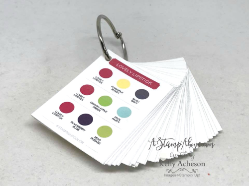 COLOR COACH RING - Make one of your own. Just click this photo to go to the links to print out your own color coach - they are so helpful when designing cards and scrapbook pages! www.AStampAbove.com