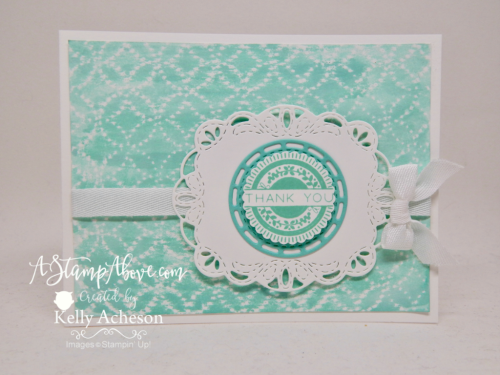 VIDEO TUTORIAL - Learn how to make this subtle background with embossing folders and a white crayon! Click the photo to see all the details and the video tutorial. www.AStampAbove.com