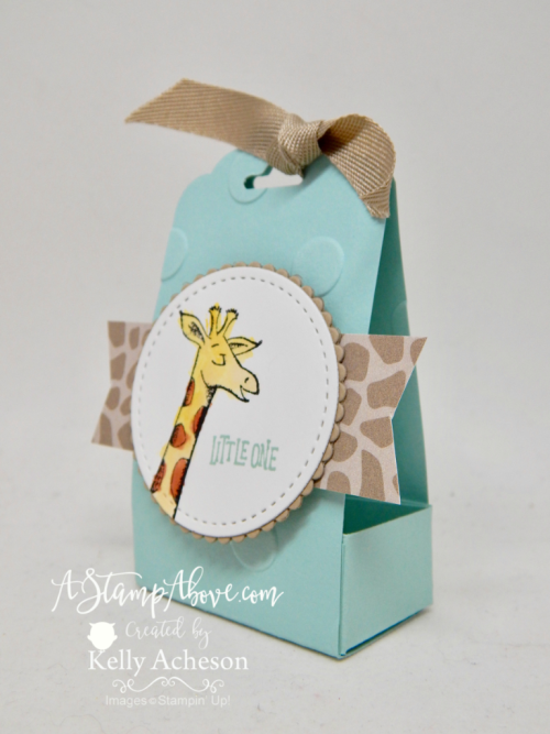 Learn how to make this adorable baby party favor and where you can order all the supplies to make  your own. There's also a matching card! Click the photo to see the details. www.AStampAbove.com