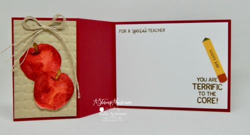 VIDEO TUTORIAL - This card is so easy to make - you'll love it! Learn how to make it and 2 others on a REPLAY of my Facebook Live broadcast. You'll find all the details and ordering links for the products on my blog. www.AStampAbove.com