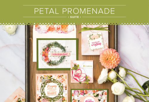Learn all about this beautiful product suite featuring the BEAUTIFUL PROMENADE stamp set and BEAUTIFUL LAYERS thinlits - you'll find ordering links for these new products at www.AStampAbove.com