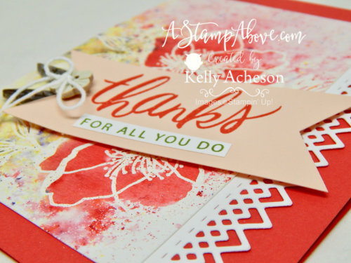 VIDEO TUTORIAL - Learn how to make this gorgeous card featuring the Beautiful Promenade stamp set and BRUSHO! Click the photo for all the details. www.AStampAbove.com