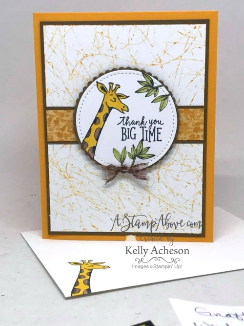 VIDEO TUTORIAL - You'll find all the details for this card using the MARBLE TECHNIQUE for the background and several other cards along with a video tutorial when you click on the photo. Join me on Sunday nights at 7 pm central time for a Facebook Live stamping class - there are PRIZES TOO! www.AStampAbove.com