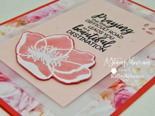 Learn how to make a card using the FAUX VELLUM TECHNIQUE. You'll find a video tutorial on my blog - just click the photo. www.AStampAbove.com