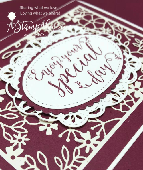 Love this laser cut paper by Stampin' Up! Get it here: www.AStampAbove.com