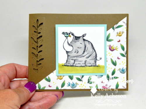 VIDEO TUTORIAL - this card was part of my Facebook Live stamping class - you'll find the video tutorial and all the dimensions/ingredients on my blog when you click the photo. www.AStampAbove.com