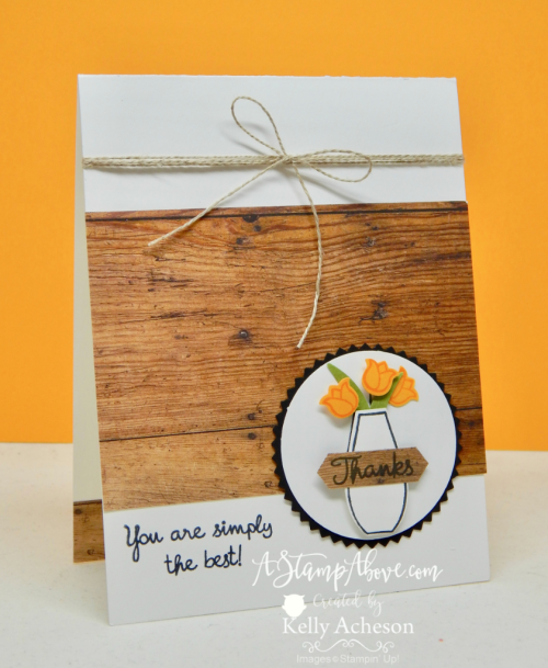 VIDEO TUTORIAL - Learn how to make this adorable card and all the details about my newest ONLINE CLASS using the Varied Vases Bundle! www.AStampAbove.com