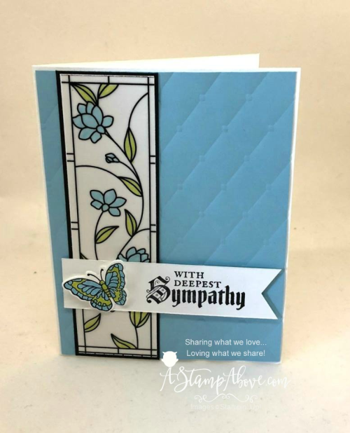 Learn how to make this beautiful card on my blog - just click on the photo to see the details and download a printable Project Sheet. www.AStampAbove.com