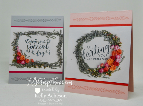 VIDEO TUTORIAL - Learn some great layouts for using Designer Series Paper for quick and easy cards. All details and dimensions are on my blog. www.AStampAbove.com