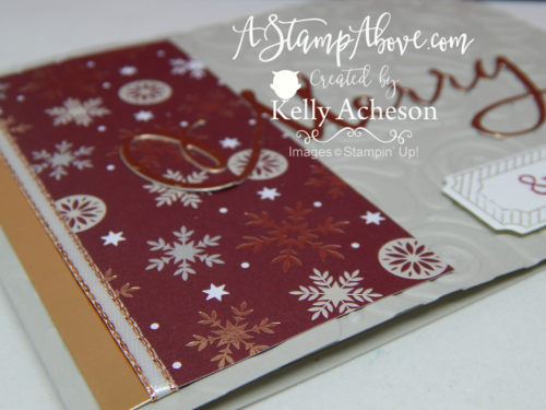 VIDEO TUTORIAL - learn a great technique using the Stamparatus as a template and get a SNEAK PEEK of some new product coming out in the Holiday Mini Catalog Sept 5th! www.AStampAbove.com
