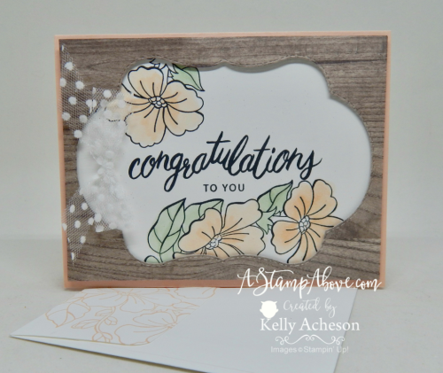 """VIDEO TUTORIAL -Learn how easy it is to make this card with the """"negative"""" from the Stitched Seasons Thinlits! www.AStampAbove.com"""