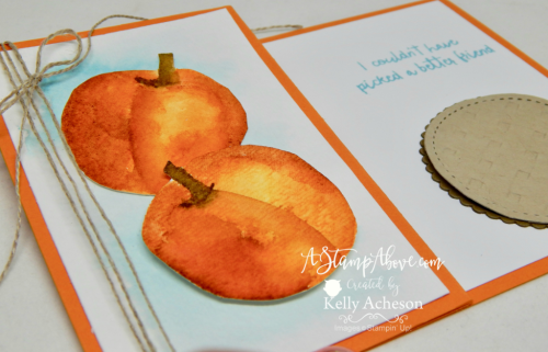 VIDEO TUTORIAL - Learn how to make peaches with the PICKED FOR YOU apple stamp set! The video will also show you how to make a soft & subtle watercolor wash and the cute little pie! All the details and ordering links are on my blog. www.AStampAbove.com
