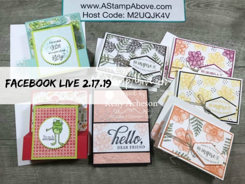 Watch my Facebook Live from some great ideas and lots of fun ❤SHOP❤ CLICK FOR DETAILS - ORDER STAMPIN' UP! PRODUCTS ON-LINE. Purchase the $99 Starter Kit & enjoy a 20% discount! Tons of paper crafting ideas & FREE Online Classes. www.AStampAbove.com
