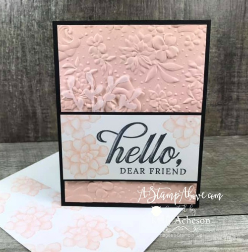 Embossing Folder FREE with your $50 Order! Watch my Facebook Live from some great ideas and lots of fun ❤SHOP❤ CLICK FOR DETAILS - ORDER STAMPIN' UP! PRODUCTS ON-LINE. Purchase the $99 Starter Kit & enjoy a 20% discount! Tons of paper crafting ideas & FREE Online Classes. www.AStampAbove.com