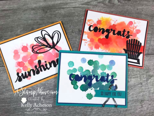 Watercolor Drip Technique Video - Click for details - ❤️SHOP❤️ - ORDER STAMPIN' UP! PRODUCTS ON-LINE. Purchase the $99 Starter Kit & enjoy a 20% discount! Tons of paper crafting ideas & FREE Online Classes. www.AStampAbove.com