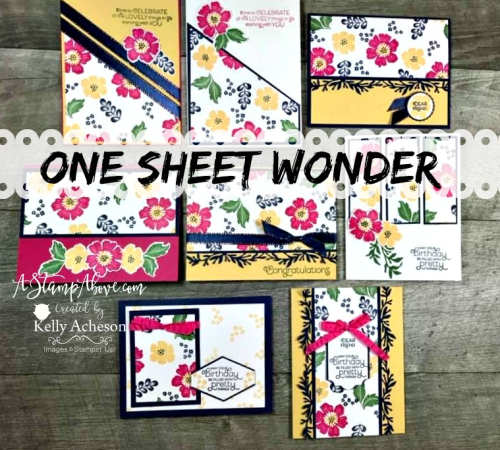 One Sheet Wonder with Everything is Rosy - Click for details - ❤️SHOP❤️ - ORDER STAMPIN' UP! PRODUCTS ON-LINE. Purchase the $99 Starter Kit & enjoy a 20% discount! Tons of paper crafting ideas & FREE Online Classes. www.AStampAbove.com