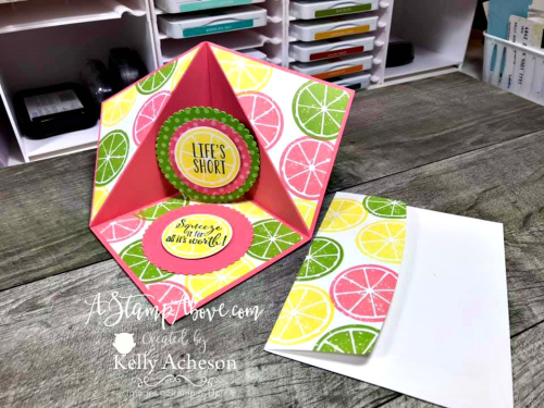 Corner Easel Card Video -  Click for details - ❤️SHOP❤️ - ORDER STAMPIN' UP! PRODUCTS ON-LINE. Purchase the $99 Starter Kit & enjoy a 20% discount! Tons of paper crafting ideas & FREE Online Classes. www.AStampAbove.com
