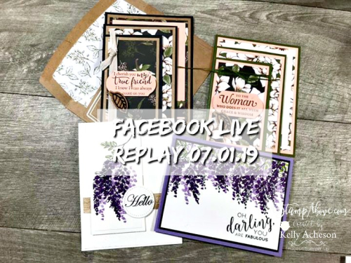 Watch my Facebook Live - it's so much fun! VIDEO TUTORIAL - Click for details - ❤️SHOP❤️ - ORDER STAMPIN' UP! PRODUCTS ON-LINE. Purchase the $99 Starter Kit & enjoy a 20% discount! Tons of paper crafting ideas & FREE Online Classes. www.AStampAbove.com