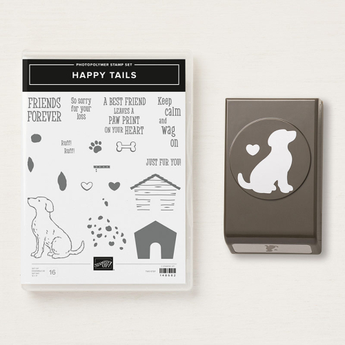 Happy Tails Stamp Set & Punch - Click for details - ❤️SHOP❤️ - ORDER STAMPIN' UP! PRODUCTS ON-LINE. Purchase the $99 Starter Kit & enjoy a 20% discount! Tons of paper crafting ideas & FREE Online Classes. www.AStampAbove.com