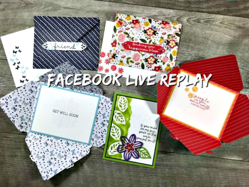 Facebook Live Replay! Click for details - ❤️SHOP❤️ - ORDER STAMPIN' UP! PRODUCTS ON-LINE. Purchase the $99 Starter Kit & enjoy a 20% discount! Tons of paper crafting ideas & FREE Online Classes. www.AStampAbove.com