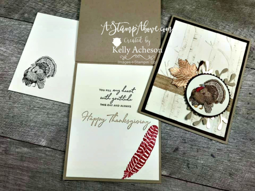 Just in time for Thanksgiving! Learn how to make this card - Facebook Live Replay - VIDEO TUTORIAL - Click for details - ️SHOP ️ - ORDER STAMPIN' UP! PRODUCTS ON-LINE. Purchase the $99 Starter Kit & enjoy a 20% discount! Tons of paper crafting ideas & FREE Online Classes. www.AStampAbove.com72053170_10220524823733062_5155516662937550848_n
