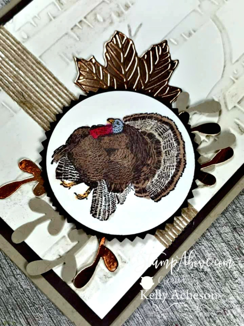 Just in time for Thanksgiving! Learn how to make this card - Facebook Live Replay - VIDEO TUTORIAL - Click for details - ️SHOP ️ - ORDER STAMPIN' UP! PRODUCTS ON-LINE. Purchase the $99 Starter Kit & enjoy a 20% discount! Tons of paper crafting ideas & FREE Online Classes. www.AStampAbove.com