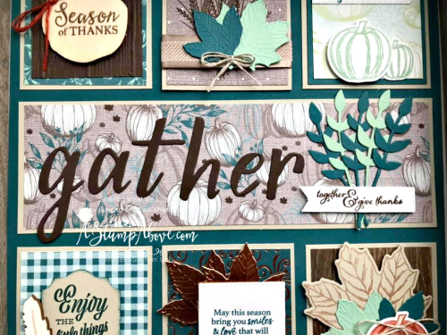 FREE Downloadable Project Sheet available for this beautiful work of art - VIDEO TUTORIAL - Click for details - ️SHOP ️ - ORDER STAMPIN' UP! PRODUCTS ON-LINE. Purchase the $99 Starter Kit & enjoy a 20% discount! Tons of paper crafting ideas & FREE Online Classes. www.AStampAbove.com72788003_10220577394327294_7970503778526822400_n