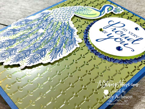 NEW Noble Peacock Suite by Stampin' Up! Video Tutorial -  Click for details - ❤️SHOP❤️ - ORDER STAMPIN' UP! PRODUCTS ON-LINE. Purchase the $99 Starter Kit & enjoy a 20% discount! Tons of paper crafting ideas & FREE Online Classes. www.AStampAbove.com