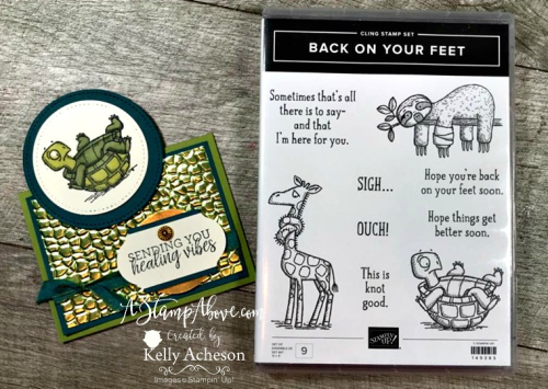 Back On Your Feet Stamp Set - Facebook Live Replay VIDEO TUTORIAL - Click for details - ️SHOP ️ - ORDER STAMPIN' UP! PRODUCTS ON-LINE. Purchase the $99 Starter Kit & enjoy a 20% discount! Tons of paper crafting ideas & FREE Online Classes. www.AStampAbove.com