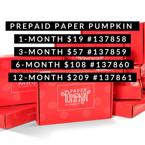 Paper Pumpkin Kit -  Click for details - ❤️SHOP❤️ - ORDER STAMPIN' UP! PRODUCTS ON-LINE. Purchase the $99 Starter Kit & enjoy a 20% discount! Tons of paper crafting ideas & FREE Online Classes. www.AStampAbove.com