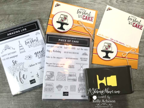 PIECE OF CAKE - Click for details - ❤️SHOP❤️ - ORDER STAMPIN' UP! PRODUCTS ON-LINE. Purchase the $99 Starter Kit & enjoy a 20% discount! Tons of paper crafting ideas & FREE Online Classes. www.AStampAbove.com