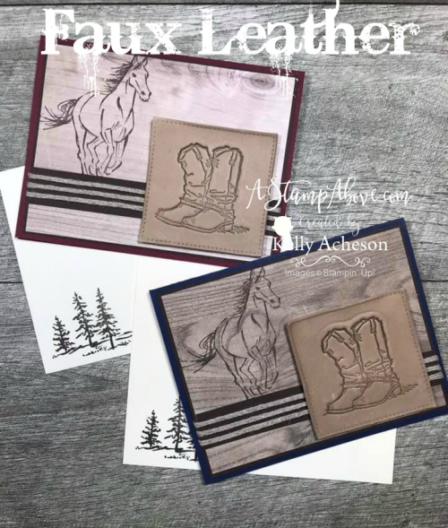 Faux Leather Technique Video -  Click for details - ❤️SHOP❤️ - ORDER STAMPIN' UP! PRODUCTS ON-LINE. Purchase the $99 Starter Kit & enjoy a 20% discount! Tons of paper crafting ideas & FREE Online Classes. www.AStampAbove.com