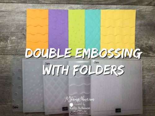Double Embossing Video - Click for details - ❤️SHOP❤️ - ORDER STAMPIN' UP! PRODUCTS ON-LINE. Purchase the $99 Starter Kit & enjoy a 20% discount! Tons of paper crafting ideas & FREE Online Classes. www.AStampAbove.com