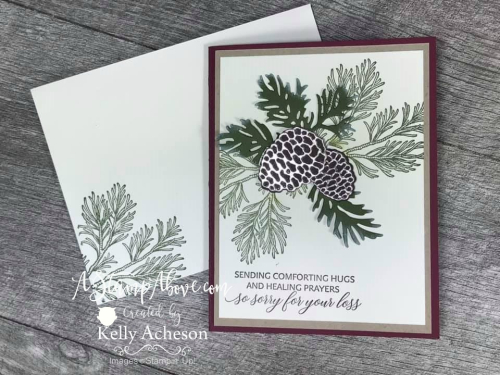 Peaceful Boughs Sympathy Card VIDEO TUTORIAL - Click for details - ️SHOP ️ - ORDER STAMPIN' UP! PRODUCTS ON-LINE. Purchase the $99 Starter Kit & enjoy a 20% discount! Tons of paper crafting ideas & FREE Online Classes. www.AStampAbove.com