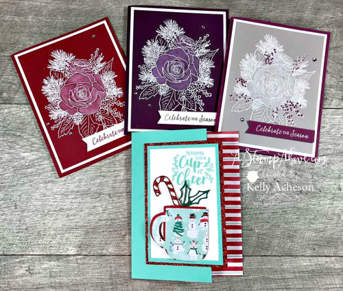 Gift Card Holder (Cup of Christmas by Stampin' Up! VIDEO TUTORIAL - Click for details - ️SHOP ️ - ORDER STAMPIN' UP! PRODUCTS ON-LINE. Purchase the $99 Starter Kit & enjoy a 20% discount! Tons of paper crafting ideas & FREE Online Classes. www.AStampAbove.com