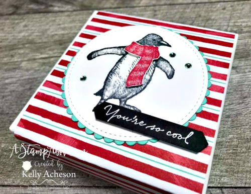 Playful Penguin by Stampin' Up! Embellish boxes of candy for an amazing handmade gift from the heart! Details & VIDEO TUTORIAL - ️SHOP ️ - ORDER STAMPIN' UP! PRODUCTS ON-LINE. Purchase the $99 Starter Kit & enjoy a 20% discount! Tons of paper crafting ideas & FREE Online Classes. www.AStampAbove.com
