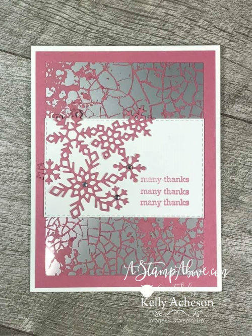 Winter Thank You's VIDEO TUTORIAL - Click for details - ️SHOP ️ - ORDER STAMPIN' UP! PRODUCTS ON-LINE. Purchase the $99 Starter Kit & enjoy a 20% discount! Tons of paper crafting ideas & FREE Online Classes. www.AStampAbove.com