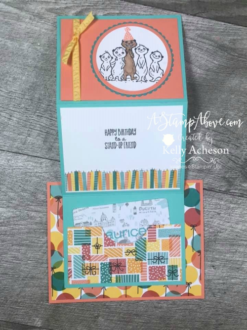 Gift Card Holder - VIDEO TUTORIAL - Click for details - ️SHOP ️ - ORDER STAMPIN' UP! PRODUCTS ON-LINE. Purchase the $99 Starter Kit & enjoy a 20% discount! Tons of paper crafting ideas & FREE Online Classes. www.AStampAbove.com