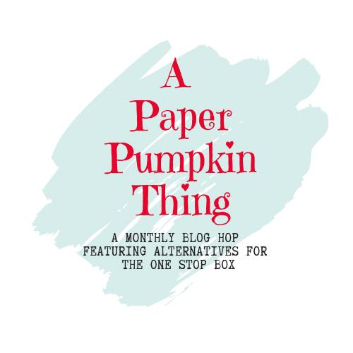 Paper pumpkin blog hop graphic