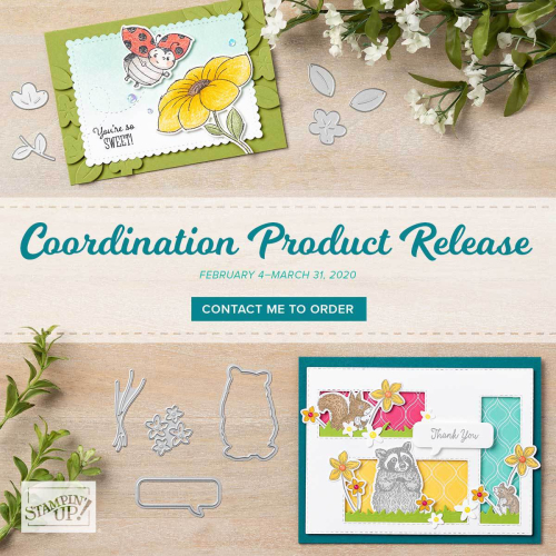 Stampin' Up!'s newest promotion - COORDINATING PRODUCTS! Get all the details - VIDEO TUTORIAL - Click for details - ️SHOP ️ - ORDER STAMPIN' UP! PRODUCTS ON-LINE. Purchase the $99 Starter Kit & enjoy a 20% discount! Tons of paper crafting ideas & FREE Online Classes. www.AStampAbove.com